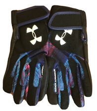 Youth Large Under Armour Genuine Leather Palm Athletic Batting Gloves