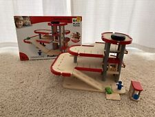 Plan City Wooden 3 Level Parking Garage with elevator, ramp and extra parts USED