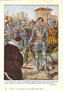 Stampa antica PAVIA FRANCESCO I sconfitto da CARLO V 1931 Old antique print