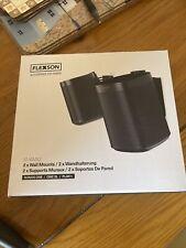 2 x Flexson Tilt & Swivel Wall Mount / Bracket SONOS ONE / ONE SL / Play:1 Black