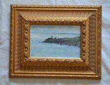 Tableau peinture à l'huile signée Massias marine bretonne  cadre bois doré