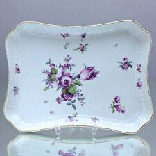 Meissen um 1760: Dejeuner Tablett, Platte, Blumen Alte Manier, Neuosier