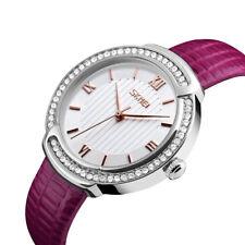SKMEI Watch Womens Quartz Watch Waterproof Leather Casual Dress Women Wristwatch