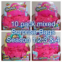 Shopkins Mixed -10 x Surprise Bags - New from packet sealed in surprise bags!