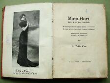 MATA HARI, rare 1906 book; Magaretha G. MacLeod-Zelle, by her father; original !