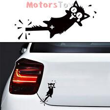 1PC JDM Funny Cat-Tails Caught In The Door Hellaflush Vinyl Car Sticker Decal