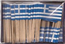Box Of 100 Greece Greek Mini Toothpick Pick Flags Cocktail Flags Ships Fast