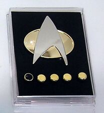 Star Trek Next Generation Metal Communicator Pin & Rank Pip Set of 6 Gift Box