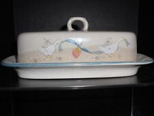 INTERNATIONAL CHINA MARMALADE GOOSE 1/4 LB. COVERED BUTTER DISH