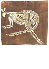 Postcard: Aboriginal Art: Bark Painting Känguruh