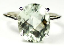 GREEN AMETHYST Sterling Silver Ring -Handmade • SR055