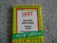 1991 BILLINGS MUSTANGS MINOR LEAGUE TEAM SET PROCARDS REDS
