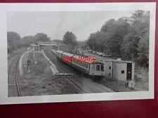 PHOTO  3 CAR DMU T333  LEAVING DORRIDGE RAILWAY STATION 7/87