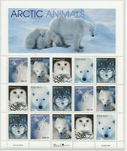 1999 33 cent Arctic Animals full Sheet of 15, Scott #3288-3292, Mint NH
