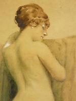 FRED-MONEY Raoul Billon Genannt (1882-1956) Nackt Jugendstil Rochegrosse