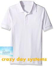NEW  U.S. POLO ASSN. Kids Short Sleeve White Knit Shirt Short Sleeve Sz 5/6 Boys