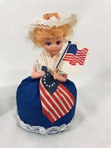 USA Betsy Ross Sewing Pin Cushion American Flag Needle 1975 Hong Kong flag vtg