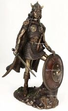 Viking Shieldmaiden Norse Mythology Statue Bronze Finish Shield Maiden