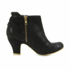 Zip Synthetic Floral Shoes for Women