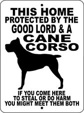 This Home Is Protected By A Cane Corso 1 Decal 9 x 9