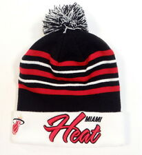 New Era NBA Miami Heat Knit Cuff Beanie with Pom Pom Adult One Size NWT