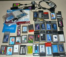 40x PCMCIA-Karten Cards Konvolut mit Adaptern/Anschlusskabeln
