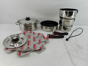 Magma A10-366-2 - Gourmet Nesting Stainless Steel Cookware Set, 10 Piece
