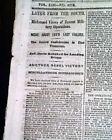 1863 Civil War Newspaper PHILADELPHIA TN Tennessee & Gen. Robert E. Lee Failure