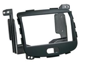 Para Hyundai i10 Marco Radio Coche Empotrado Ornamento Abertura Doble Din Negro