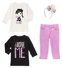 Size 6 Gymboree POSH & PLAYFUL Girls Outfit Shirts, Capri's, Headband, NWT