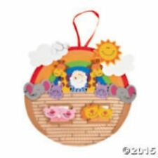 Noahs Ark Paper Plate and Foam Craft Kit (makes 2)