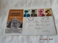 POST OFFICE FIRST DAY COVER CHURCHILL CENTENARY