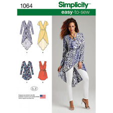Simplicity Sewing Pattern Misses Easy To Sew Wrap Tie Dress Tunic 1064