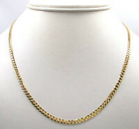 "18K Solid Gold Cuban Chain Necklace Men Women 2.5mm 16"" 18"" 20"" 22"" 24"" 30"""