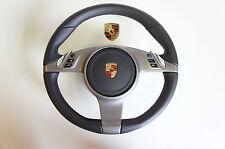 Porsche 997 987 MK2 Volante Multifuncional pdk Cuero Negro lr35 O AIRBAG