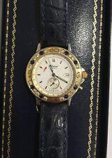 Chopard Mille Miglia One Button Chronograph 18k & SS Diamond Sapphire Wristwatch