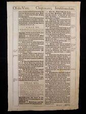 1611 KING JAMES BIBLE LEAF PAGE * BOOK OF EZEKIEL 14:23-16:39 * OF THE VINE * VG