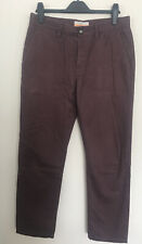 Mens Brown Straight Chinos Trousers From Next, Size 30S