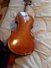 ALTE GEIGE  4/4 Wunderschön Violin geflammt Guter Zustand Mit Koffer Und Bogen