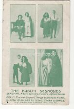 The Dublin Desmonds Irish Ballad Singers Dance 1914 Postcard