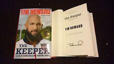 SIGNED Tim Howard The Keeper American Club Colorado Rapids Book 1/1 HC DJ Soccer