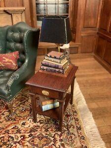 Dollhouse Miniature Artisan Brooke Tucker Book Lamp (r)