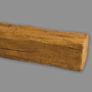 4 Meter Dekorbalken 20x13 cm | Deckenbalken | PU-Balken | Holzimitat | Hellbraun