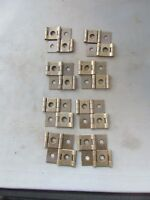 "Lot (8) VTG NOS Brass Finish Double Action Hinges 2"" x 1.75"" Screen Door"