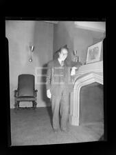 1947 Elmer Rice American Playwright Old Photo Negative 690A