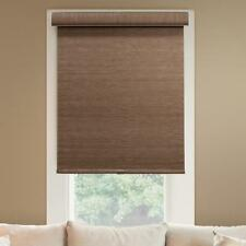 Chicology 27 in.W x 72 in.L Woodland Brown Natural Woven Horizontal Roller Shade