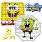 2Pack Popit Bubble Fidget Sensory Toys Cartoon SpongeBob Squeeze Silicone Toys