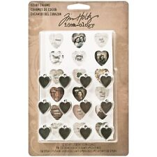 12pc Metal Heart Charms by Tim Holtz Idea-ology TH93132