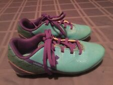 Under Armour cleats Size 1 Youth soccer softball baseball blue purple shoes