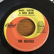 Beatles Baby, You're A Rich Man Capitol 45rpm With Comma VERY RARE!